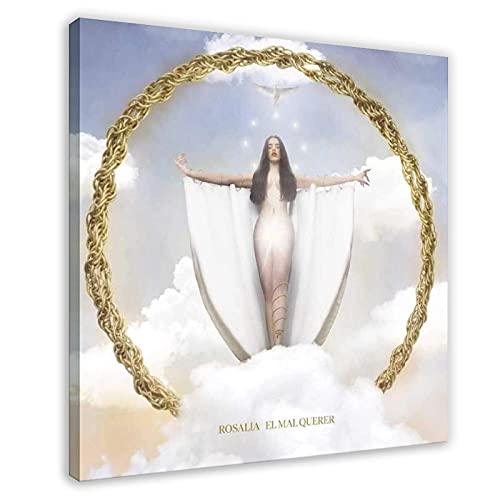 Rosalía Couverture d'album – El Mal Querer sur toile pour décoration de chambre à coucher, de sport, de bureau, de salle de bain, cadre cadeau : 50 x 50 cm