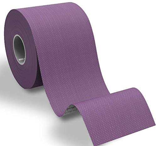 Physix Gear Sport Kinesiology Athletic Tape - Sports Injury Tape for Knee, Joint, Muscle Support - Adhesive Kinetic Tape/KT Tape - Improve Blood Circulation, Swelling, Pain Relief (1 Pk Purple)