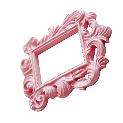 Inzopo Baroque Frame Pink Peephole Picture Frame Photoprint Wedding Supply Can Be A Gift for Your Friends Teacher Parents
