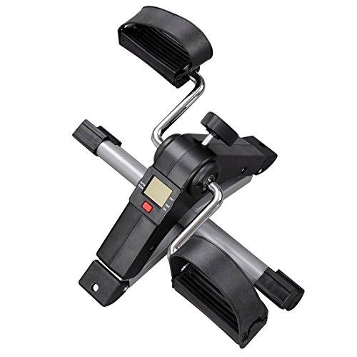 41R+o6ykrrL - Mini Bicicleta Estática Plegable Máquina Pedalear Manos Piernas Rehabilitación