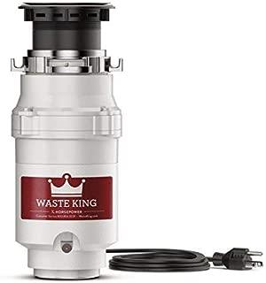 Waste King L-111 Garbage Disposal with Power Cord, 1/3 HP - (Renewed)