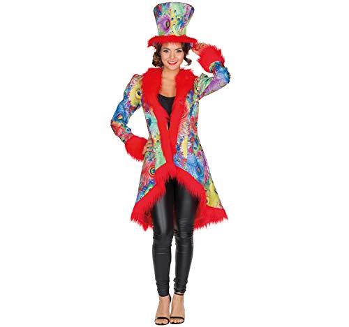 Mottoland Disfraz de Mujer Animal Pavo Real faisán Circo Abrigo Traje de Pavo Real Colorido pájaro Carnaval (36)