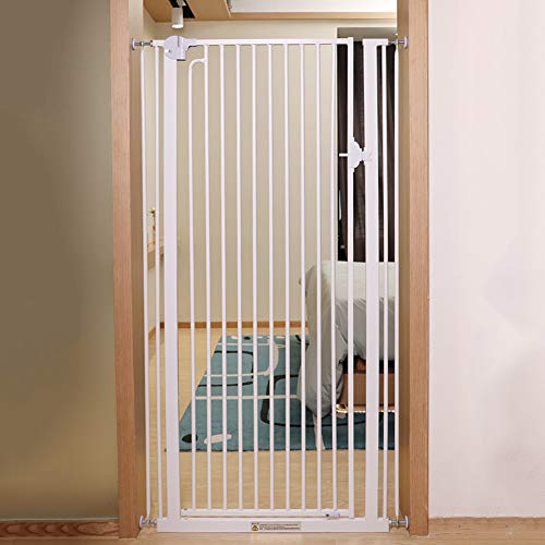 Buy Bargain Extra Tall Easy-Close Safety Baby Gates, Multi-Directional Swing Gate with Middle Locking – Ideal for Stairs Doorways or Between Rooms, Height 120cm (Size : 151-154cm)