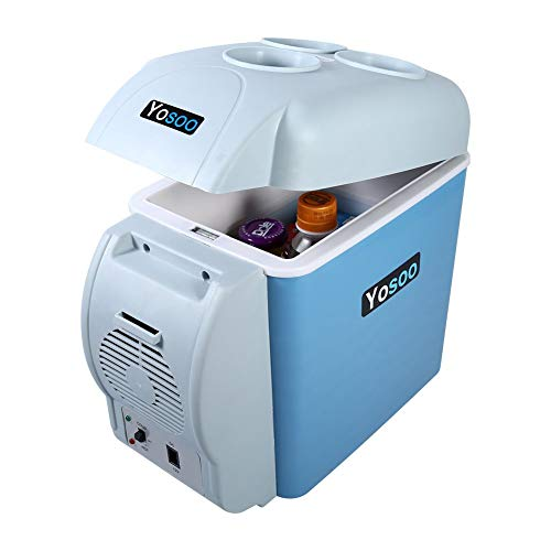 7,5l Tragbarer Mini Auto Kühlschrank Mini Kühlbox Kühltasche Kühler Elektrische Kühlbox Auto Kühlschrank zum Warmhalten Kühlen für Auto, Boot und Camping, 12 V, 31 * 16,5 * 30 cm