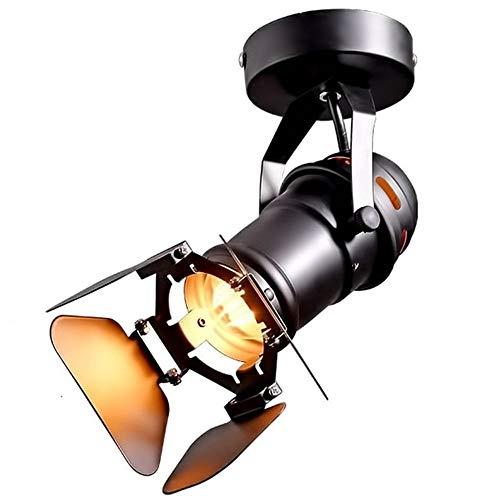 Lywins Gu10 L19 * W17cm Mini Industrial Desván LED Manchas de techo Luz de la pista Foco de techo Downlights Escaparate de iluminación led Monitor para Hotel Bar Oficina Decoración