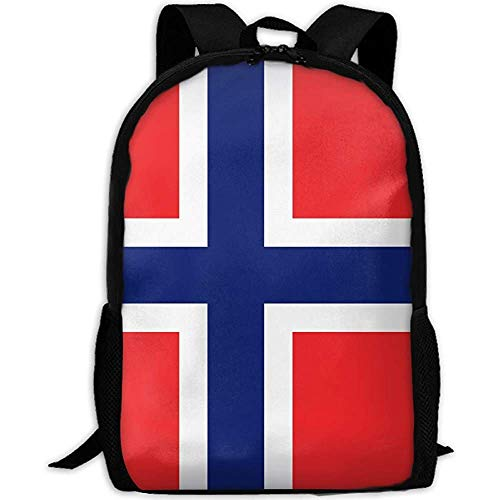 G.H.Y Norwegen Flagge Adult Travel Rucksack Schule Casual Daypack Oxford Outdoor Laptop Tasche College Umhängetaschen
