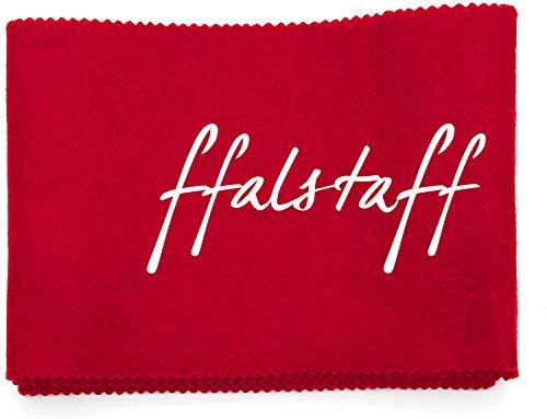 ffalstaff Panno Copri Tastiera 124 x 14 cm Morbido Adatto per Qualsiasi tipo di Pianoforte o Tastiera da 88 tasti - Antipolvere e Ottimo per il Trasporto (Rosso)