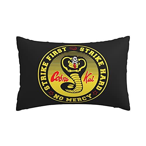 Funda de almohada decorativa para dormitorio en el hogar, funda de almohada Cobra Kai, multicolor