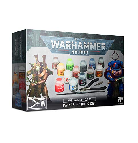 Games Workshop Warhammer 40,000 - Paints and Tools Set