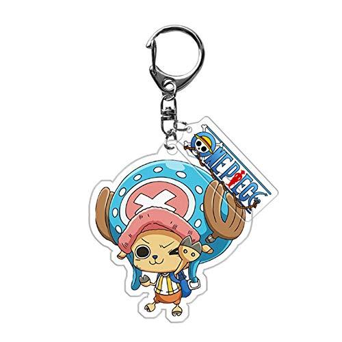 ALTcompluser Anime One Piece Schlüsselanhänger Doppelseitig Schlüsselbund Acryl Anhänger, Dekoration für Tasche/Rucksack/Mäppchen(6 × 4 cm Chopper - 1)