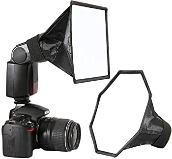 waka Flash Diffuser Light Softbox [2 Pack] Speedlight Softbox Collapsible with Storage Pouch - 8  Octagon Softbox + 8 x6  for Canon Yongnuo and Nikon Speedlight