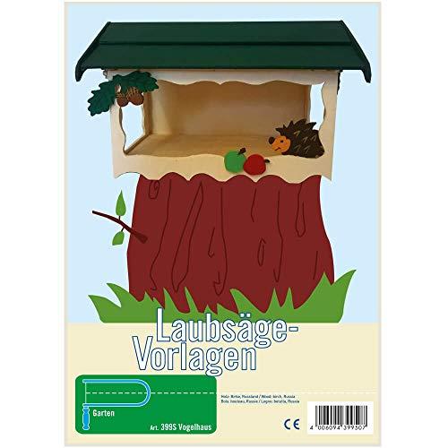 matches21 Kinder Holz Laubsägevorlage Laubsäge-Vorlage Gartendeko Vogelhaus Futterhaus DIN A4