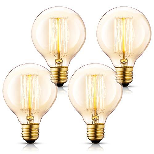 Asgens Edison Bulb G30 120V 40Watt 2200K E26 Vintage Decorative Bulb Retro Old Fashioned...