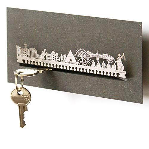Karlsruhe-Skyline Schlüsselbrett Souvenir in der Geschenk-Box