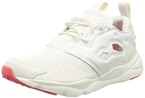 Reebok Classic Furylite Sole Trainers Women White/Pink - 8.0 - Low Top Trainers Shoes