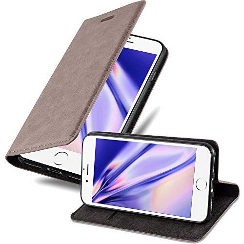 Cadorabo Funda Libro para Apple iPhone 6 / iPhone 6S en MARRÓN CAFÉ - Cubierta Proteccíon con Cierre Magnético, Tarjetero y Función de Suporte - Etui Case Cover Carcasa