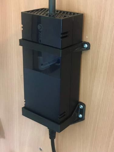 3D Cabin Xbox One Power Brick/Supply Wall Mount Bracket : Black