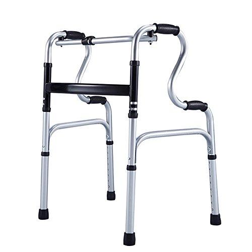 GLJJQMY Ältere/Behinderte Walker/Portable Faltung Höhenverstellbare Aluminium Rollator Home/Vierbeinigen Gehstock - Sie Können Interaktive Spaziergang Zu Fuß Oder Zu Fuß Bad Stühle