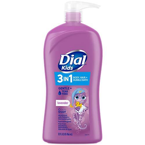 Dial Kids 3in1 Body+Hair+Bubble Bath fl oz, Lavender, 32 Ounce