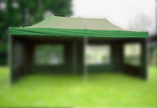 Nexos Pavillondach Ersatzdach Wechseldach für Profi Falt-Pavillon 3x6m - Dachplane 270g/m² PVC-Coating versiegelte Nähte wasserdicht – Farbe: grün