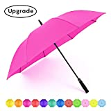 RUMBRELLA Golf Umbrella Large Windproof Umbrellas Auto Open 55IN, Hot Pink