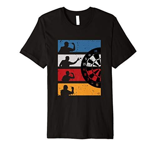 Vintage Dart Shirt Graphik Design Geschenk Für Dartspieler