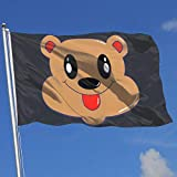 ShiHaiYunBai Flagge/Fahne, Outdoor/Indoor Demonstration Flag Bear 100% Polyester Single Layer Translucent Flags (3 X 5 Foot)