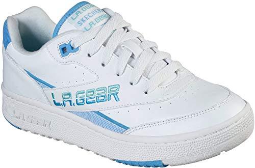 Skechers - Womens L.A. Gear: Hot Shots Low Shoes, Size: 8 M US, Color: White/Blue