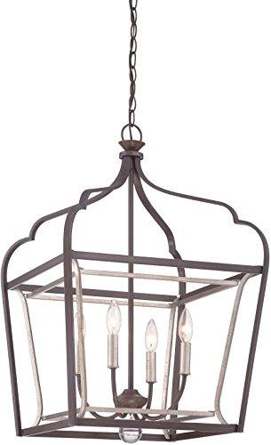Minka Lavery Pendant Lantern Ceiling Lighting 4344-593, Astrapia Large, 4 Light, Dark Rubbed Sienna