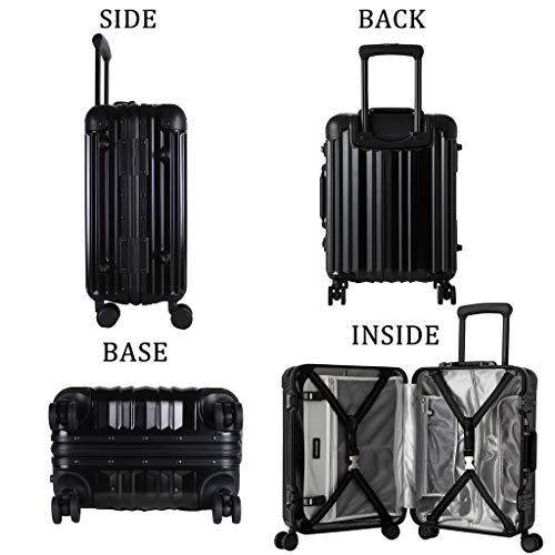 [リカルド]RICARDO Aileron Vault 19-inch Spinner INTL Carry-On Suitcase スーツケース 機内持ち込み 37L AIV-19-4WB Black