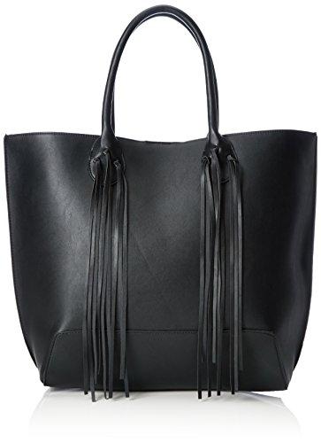 Vero Moda Damen VMTARAH BAG Henkeltaschen, Schwarz (Black), 34x35x13 cm