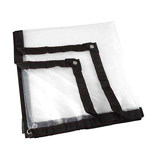 LQKYWNA Lona Transparente para Jardín Impermeable Anti Congelación Película Impermeable A Prueba De Lluvia Toldo De Aislamiento Cubierta De Plástico PE (2 * 2m)