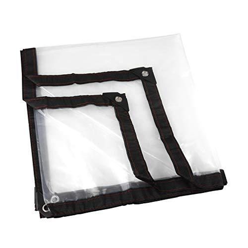 Transparent Persenning, Garten Klar Wasserdicht Tarp Anti Einfrieren Regenschutz Film Tuch Isolierung Canopy PE Kunststoff-Abdeckung (2 * 2m)