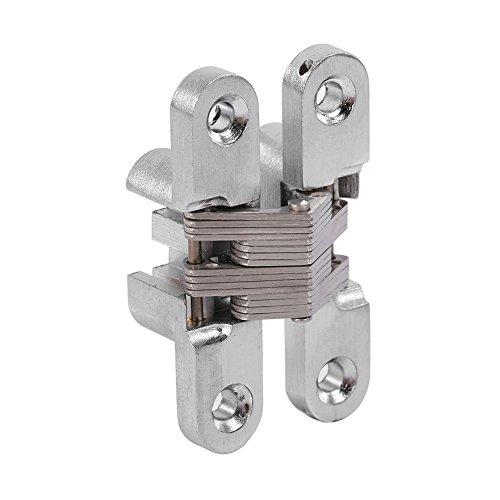 Fdit 180 Grad-Zink-Legierungs-unsichtbares faltendes Tür-Kreuz versteckte Scharniere 43,7mm / 60.4mm / 68.8mm / 94mm(60.4mm)