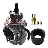 WAZDV Carburador de Motocicletas PWK2 Carburador de 4 mm con Boquilla para 125 25. 0CC Ciclomotor (Color : 2)