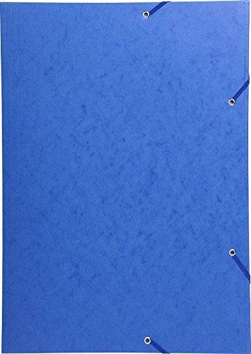 Exacompta 59502E Sammelmappe mit Gummizug und 3 Klappen aus Manila Karton 600 g, Nature Future, für DIN A3 (A3, Blau, 5)