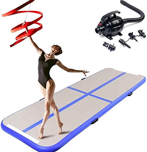 Pista Inflable colchón Gimnasia Gimnasio Secadora Airtrack Piso Yoga Juegos Olímpicos de Tumbling Lucha Bomba de Aire eléctrica Yogo (Color : 300x100x10cm)