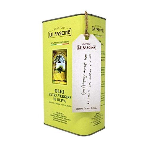Le Fascine Olio Extravergine Di Oliva 100 % Italiano Latta Da 3 Litri Prodotto Da Olive Mono Cultivar Provenzali ( Peranzane )