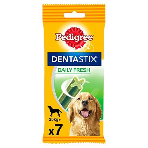 Pedigree Dentastix Fresh Snack Dental para la Higiene Oral y Contra el Mal Aliento de Perros Grandes (10 paquetes de 7ud)