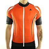 Racmmer Mens Breathable Short Sleeve Cycling Jersey Ultra-Light Cycling Clothing Orange