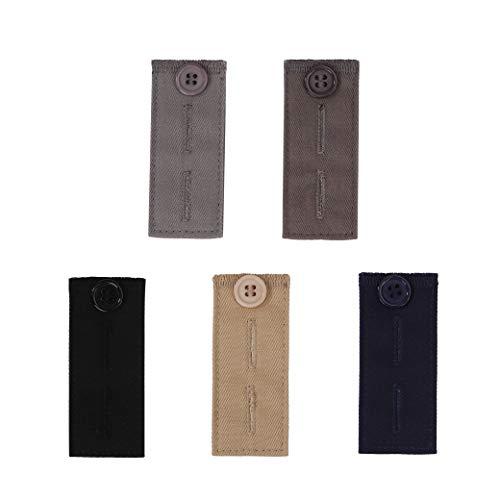 Hosenerweiterung 5 Stück Hosen Erweiterungen Einstellbare Knöpfe Extender Taillenband Verlängerung für Jeans Shorts Hosen Schwangerschaftshosen Kleidung