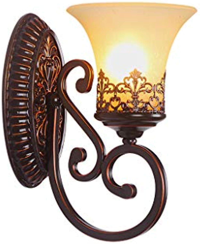 Retro Wandleuchte Schlafzimmer Wandleuchte Nachttischlampe Wohnzimmer TV Wandleuchte Treppe Lampe Gang Beleuchtung E27  1-Licht