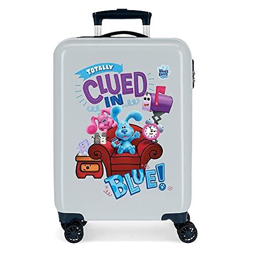 Blue´s Clues and You Maleta de Cabina Azul 38x55x20 cms Rígida ABS Cierre de combinación Lateral 34 2 kgs 4 Ruedas Dobles Equipaje de Mano