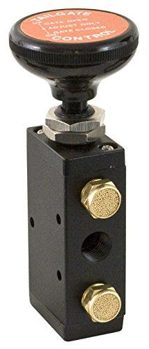 Buyers Products BAV015 válvula de aire de 4 vías (válvula de aire, con perilla, empuje, 4 vías, 3 unidades)