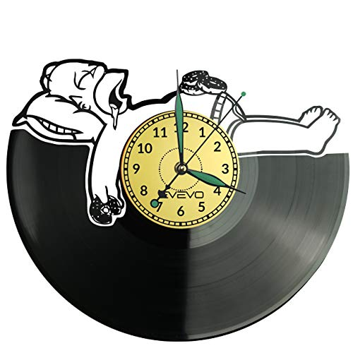 Simpsons Wanduhr Uhr Vinyl Schallplatte Retro-Uhr groß Uhren Style Raum Home Dekorationen Tolles Geschenk für Freund Man Vinyl Record Kovides Vinyl Home Decor Raum, Inspirierende Wand