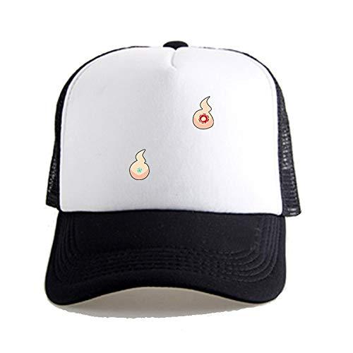 XUEYAN WC-Bound Hanako-kun: Patrón fantasma fuego gorra de béisbol unisex, con estilo ocasionales respirables Sunhat, Pesca Cap Net sombrero a caballo Senderismo Sombrero, Hip Hop Visera Montañismo Ca