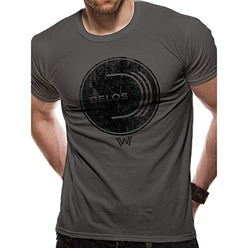 Westworld - Camiseta Logotipo Delos para Adultos Unisex (S)...