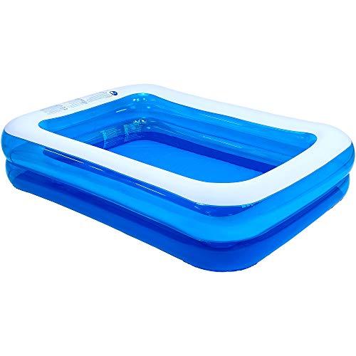 "Jilong Rectangular Inflatable Kiddie Pool, Blue, 79"" x 59"" x 20"""
