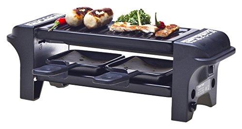 Nouvel Raclette Gerät Set für 2 Personen - Raclette-Set «Scherenschnitt» - 6-teiliges Raclette-Set - für romantisches Rendezvous oder ein gemütliches Raclette Vergnügen