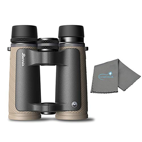 Burris Signature HD Binoculars 8x42 for Hunting and Bird Watching Bundle with a Lumintrail Cleaning Cloth